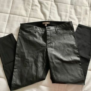 Banana Republic Leather Front Jeans 🖤